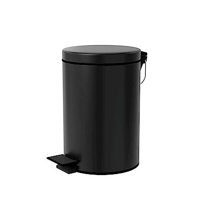 TRENY 不鏽鋼垃圾桶 8L 霧黑