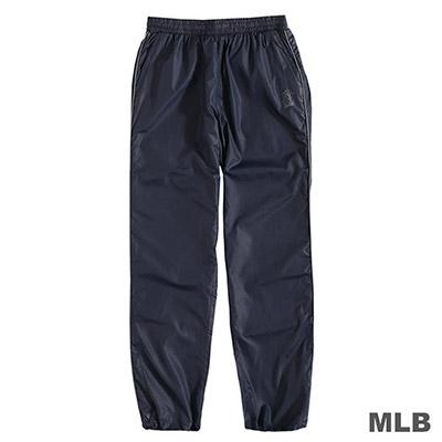 MLB-紐約洋基隊LOGO印花運動風衣長褲-深藍 (女)