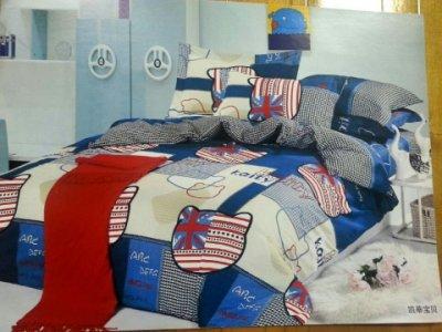 【玫瑰物語】柔絲絨凱蒂寶貝床組兒童趣味7件式床罩組磨毛工法5x6.2雙人寢具組鋪棉結婚禮嫁妝冬夏兩用被生日禮物溫暖小鹿兔