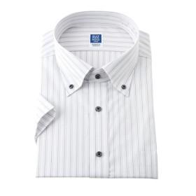 Designed by PERSON'S形態安定半袖デザインワイシャツ(ボタンダウン) (ワイシャツ)