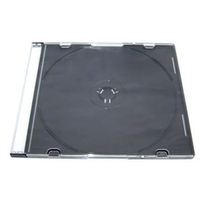 DigiStone單片超薄CD/DVD硬殼收納盒/黑色 25片