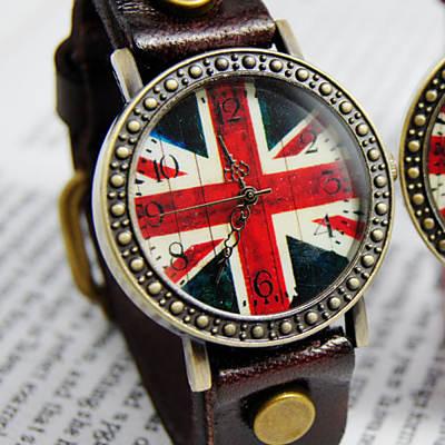 Ebusan BOBO 復古英倫風情皮革錶-棕/29mm