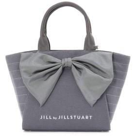 【公式/JILL by JILLSTUART】マッシブリボントートバッグ(大)/女性/キャンバスバッグ/チャコールグレー/サイズ:FR/