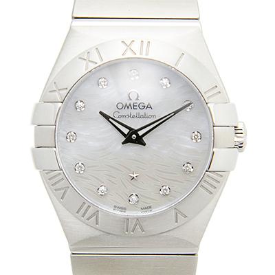 OMEGA 歐米茄 Constellation 星座系列短波紋真珠母貝腕錶-27mm