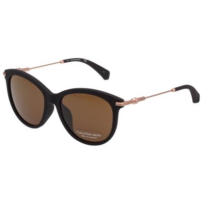 Calvin Klein 小貓眼 太陽眼鏡 霧面黑 CKJ514SAF