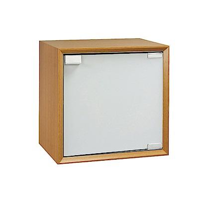 品家居 格吉1.2尺單門收納櫃(三色可選)-36x36x30cm免組