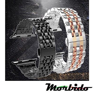 Apple Watch 不鏽鋼七珠蝶扣錶帶-贈拆錶器44mm