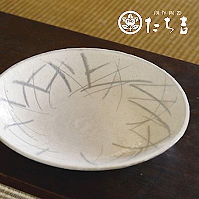 日本橘吉_粉引草文盛皿