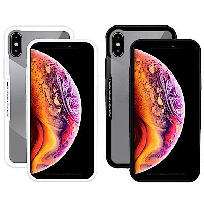 加購 Metal-Slim Apple iPhone XS 0.7mm 強化玻璃保護殼