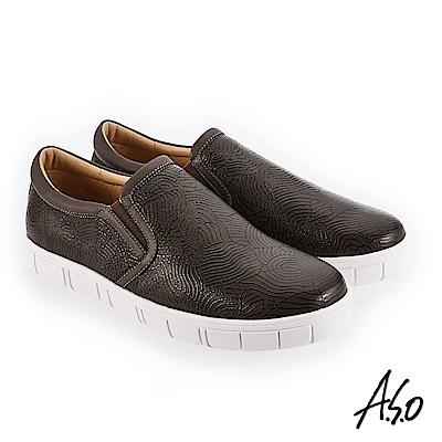 A.S.O 阿瘦 輕量抗震 個性百搭休閒鞋 墨綠 10014000343-69