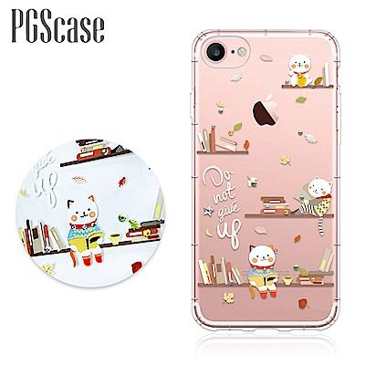 PGS iPhone SE(第二代/2020) / 8 / 7 4.7吋奧地利彩鑽防摔手機殼-貓咪書房