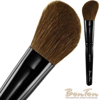 BonTon 墨黑系列 斜修容/腮紅刷(大) LBLW01 高級小馬毛