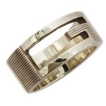 グッチ 指輪 Gロゴ シルバーリング 中古 シルバー 925 GUCCI 約7.2g サイズ9号 032660-09840-8106 Gマーク Gリング