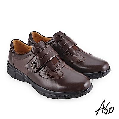 A.S.O 阿瘦 3D超動能 舒適超彈力休閒鞋 咖啡 10013000475-55