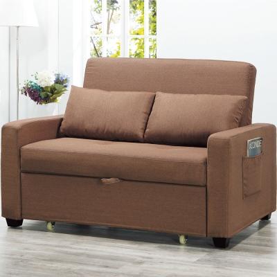 沙發床 雙人座 凡絲咖啡色多功能沙發 品家居