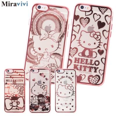 Sanrio三麗鷗iPhone 6時尚質感電鍍雷雕保護套-Kitty