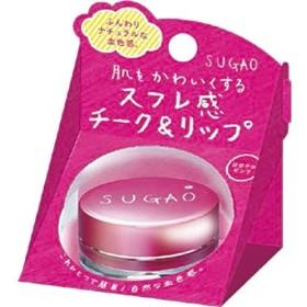 スガオ (SUGAO) スフレ感 チーク&リップ はなやかピンク 6.5g