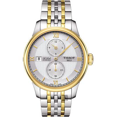 TISSOT 天梭 LE LOCLE 力洛克雅仕機械腕錶 銀x雙色版 40mm T0064282203802