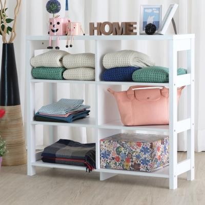 EASY HOME 三層六格加寬隔間展示收納櫃(90x29.6x80cm)-DIY