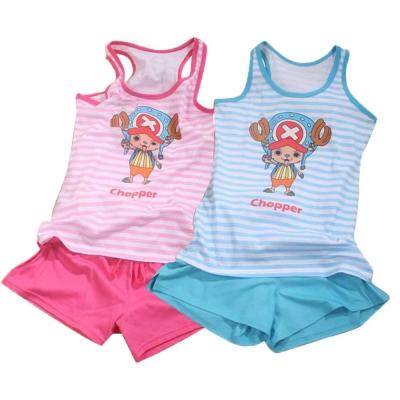 魔法Baby台灣製航海王授權女童長版背心套裝 k41712