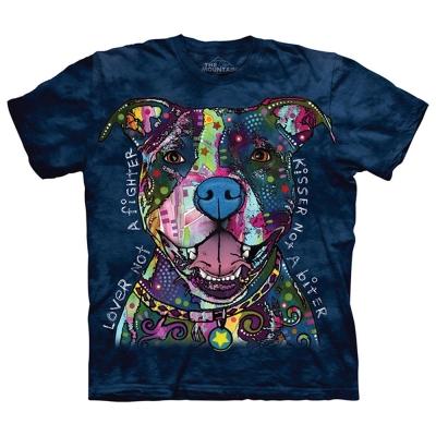 摩達客 美國進口The Mountain 彩繪親親比特犬 純棉環保短袖T恤