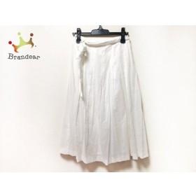 シビラ Sybilla ロングスカート サイズM レディース 美品 白 ドット柄  値下げ 20190912