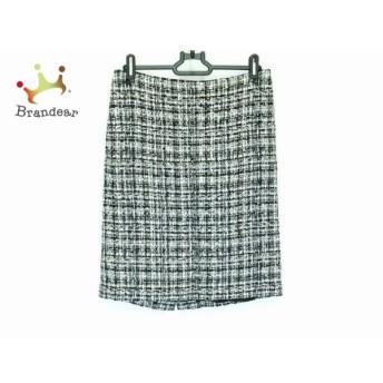 ユマエストネーション UMA ESTNATION スカート サイズ38 M レディース 白 ツイード   スペシャル特価 20200308