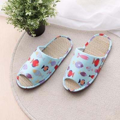 兒童款 水世界輕量室內蓆拖鞋