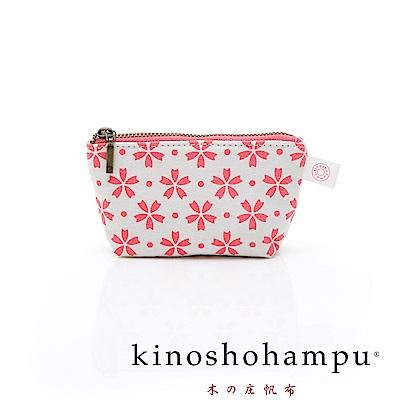 kinoshohampu 貴族和柄帆布零錢包 櫻花粉