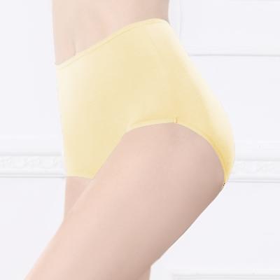 台灣製安心健康蠶絲蛋白高腰透氣呵護型 M-2XL 內褲 初暮黃 可蘭霓Clany