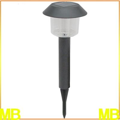 月陽黑帽太陽能充電式自動光控開關LED庭園燈草坪燈插地燈(5004)