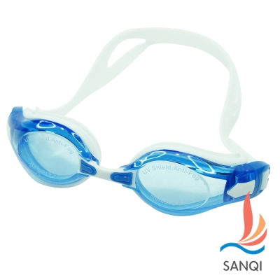 SANQI三奇 夏日必備抗UV防霧休閒泳鏡(2978-藍F)