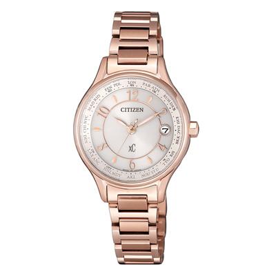 CITIZEN xC光動能鈦金屬多元雅緻腕錶-玫瑰金(EC1162-59A)/27mm