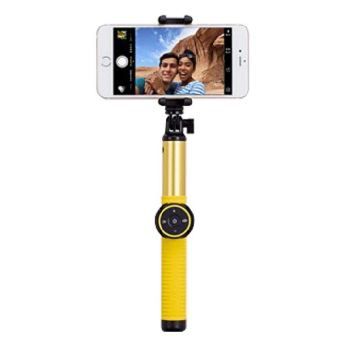 MOMAX Selfie Hero 藍牙自拍棒150CM黃色