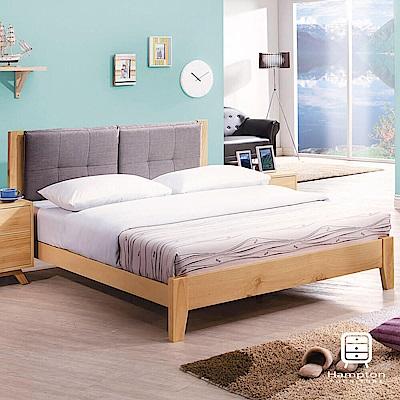 漢妮Hampton蘇菲亞系列實木5尺雙人床架-155x200x90cm