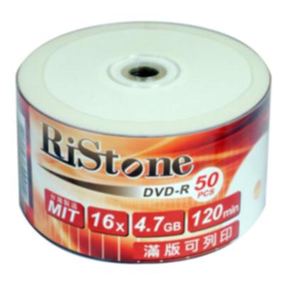 RiStone 日本版  DVD-R 16X  珍珠白可印片 裸裝 ( 50片)
