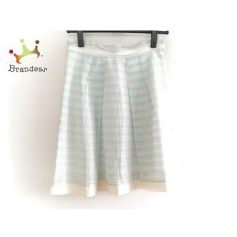 アプワイザーリッシェ Apuweiser-riche スカート サイズ2 M レディース 美品 ライトブルー×白 新着 20190618