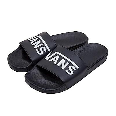 (男)VANS Slide-On 素色休閒拖鞋*黑色VN0004KIIX6