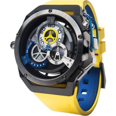 Mazzucato RIM 鷗翼式翻轉超跑雙機械石英手錶 RIM06-YL654