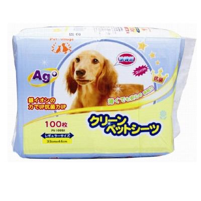 日本Pet village 誘導劑AG+銀離子除臭尿布墊 100片入