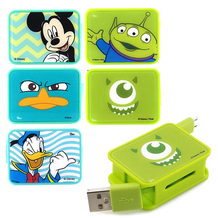 【Disney】 Micro USB 方形造型伸縮傳輸線