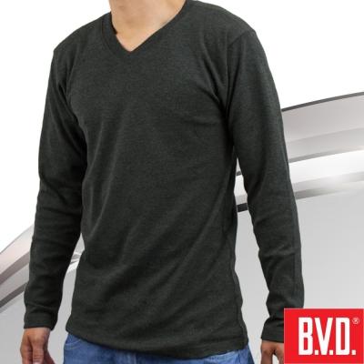 BVD 棉絨V領長袖衫