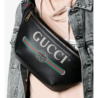 グッチ GUCCI ヴィンテージロゴ レザー ベルトバッグ 5304120GCCT8164 ブラック