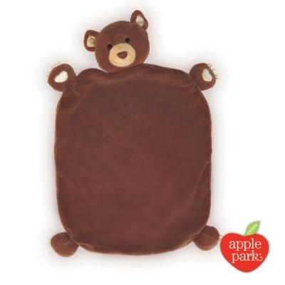 美國 Apple Park 有機棉安撫巾彌月禮盒 小熊