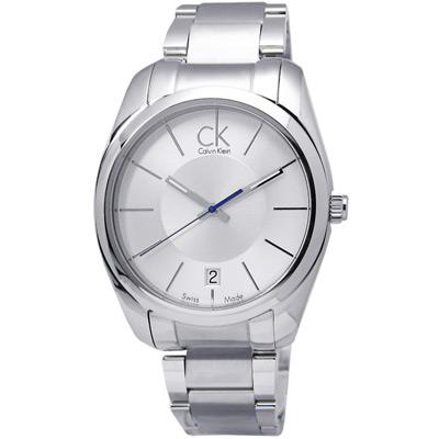Calvin Klein 卡文克萊 Strive 極簡風範時尚紐約都會腕錶 銀白 42mm K0K21120