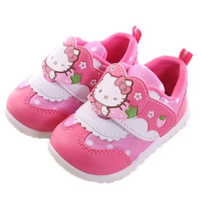 Hello kitty草莓魔鬼貼 小童休閒鞋 桃 sh0039 魔法Baby