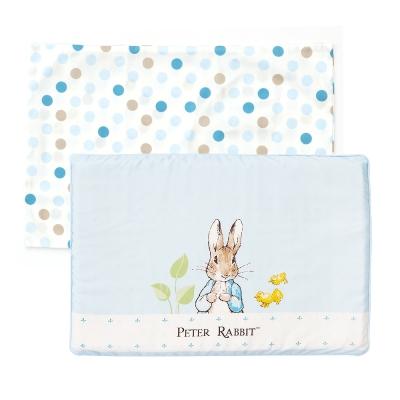 【限時滿額送玩樂劵】 奇哥 花園比得兔乳膠枕-藍色 (附枕套)