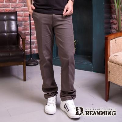 Dreamming 超輕薄透氣伸縮休閒直筒商務褲-深灰