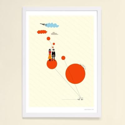 摩達客 西班牙Judy Kaufmann掛畫裝飾畫-旅行(附Judy本人簽名附木框)