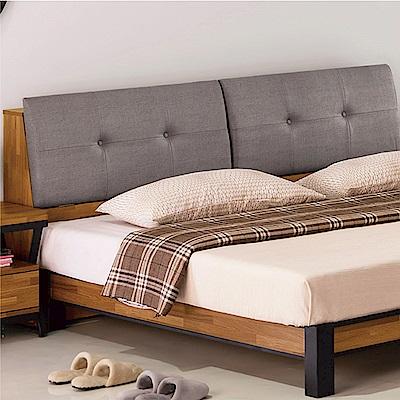 綠活居 派米亞6尺耐磨亞麻紋皮革雙人加大床頭箱(不含床底)-184x30x95cm免組